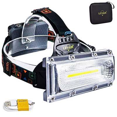 Headlamp LETOUR 8000 Lumen Rechargeable Headlamp