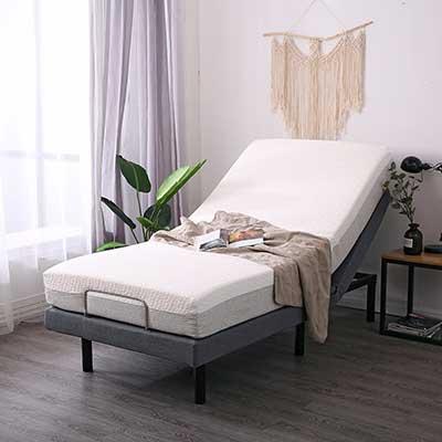 LEISUIT Adjustable Massage Bed Frame, Twin XL