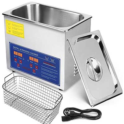 Mophorn 3L Stainless Steel Professional Ultrasonic Jewelry Cleaner