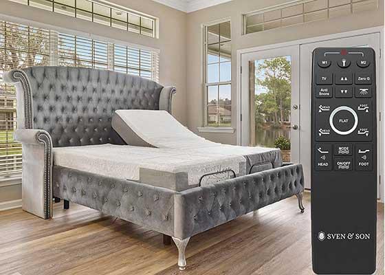 Sven & Son Dual Massage Adjustable Bed Base Frame