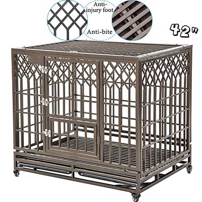 SMONTER Heavy Duty Dog Crate