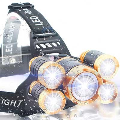 Soft Digits Headlamp Ultra Bright 5 LED Headlight