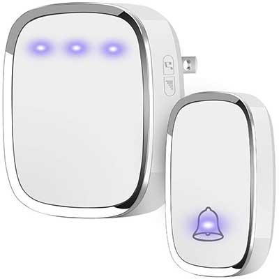 Anko Wireless Doorbell, Plug, and Play Waterproof Door Bell kit
