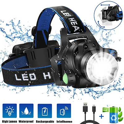 Headlamp Flashlight, USB Rechargeable LED Head Lamp