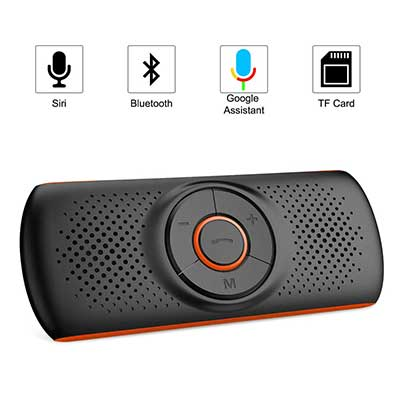 Aigoss Hands-free Bluetooth 4.2 for Cell Phone, Car Speaker