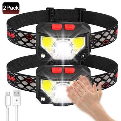 Soft Digits Headlamp Flashlight, 800 Lumens