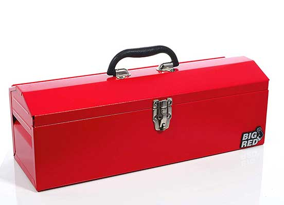 Torin Big Red Portable Steel Tool Box with Removable Tray
