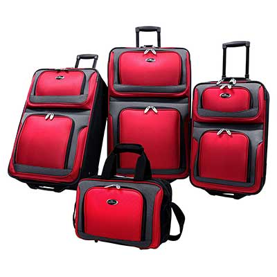 U.S. Traveler New Yorker Lightweight Expandable Rolling Suitcase