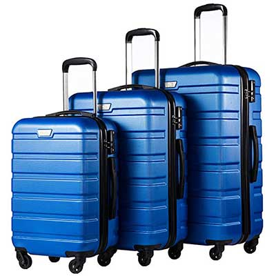 Coolife Luggage Suitcase Spinner Hardshell