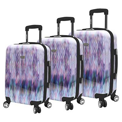 Steve Madden Luggage Set 3 Piece Suitcase Set with Spinner Wheels