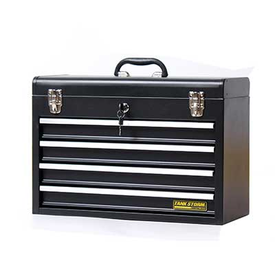 TANKSTORM Portable Steel Tool Chest with Drawers