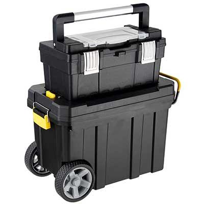 Goplus 2-in-1 Tool Box Portable Rolling Tool Box