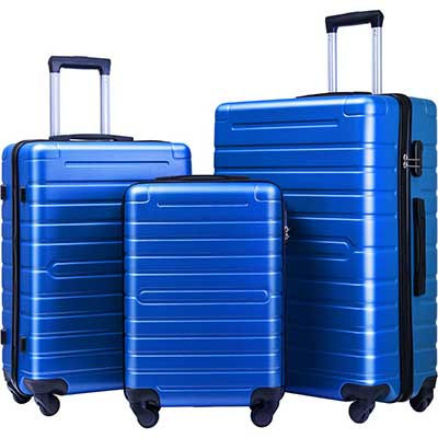 Flieks Luggage Sets Spinner Suitcase Lightweight