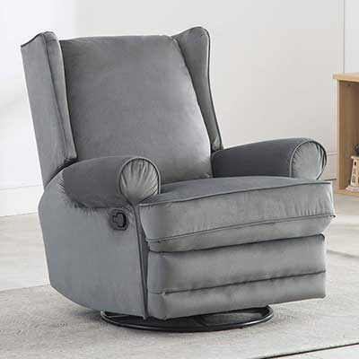 Bonzy Home Swivel Rocker Recliner Chair