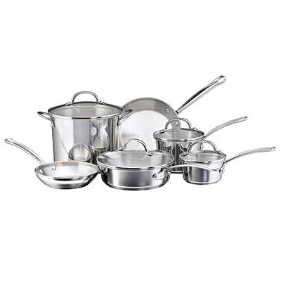 Farberware 75653 Millennium Stainless Steel Cookware Pots and Pans Set