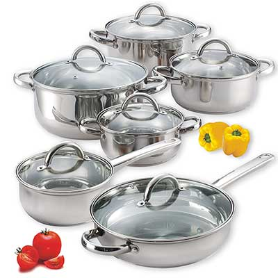 Cook N Home NC-00250 12-Piece Stainless