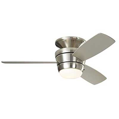Harbor Breeze Mazon 44-inch Brushed Nickel Flush Ceiling Fan