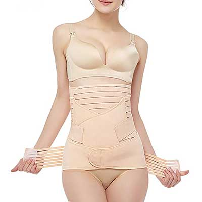 Gepoetry Postpartum Recovery Belly Girdle Support Band
