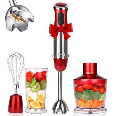 KOIOS Powerful 800W 4-in-1 Hand Immersion Blender