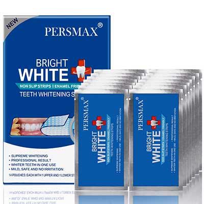 PERSMAX Teeth Whitening Strips, Non-slip Denter Whitener