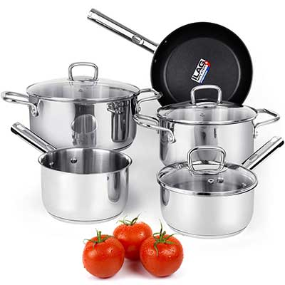 Viewee Cookware Set Stainless Steel