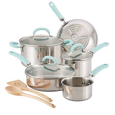 Rachael Ray Create Delicious Cookware Pots and Pans Set