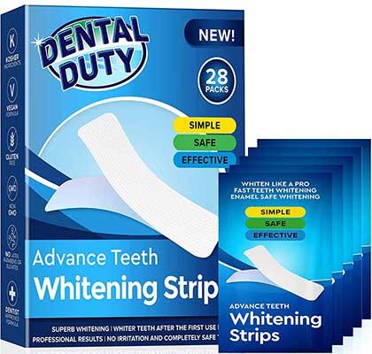 Professional Teeth Whitening Strips by Dental Duty