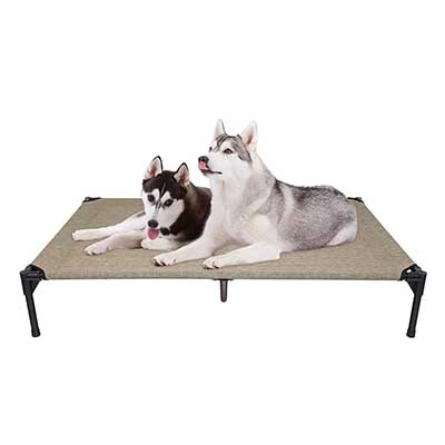 Veehoo Elevated Dog Bed, Portable Raised Pet Cot