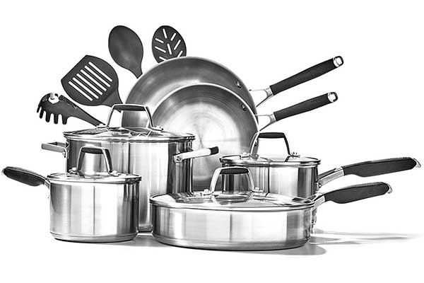 Select by Calphalon Stainless Steel Deluxe Cookware Set, 14 Pieces