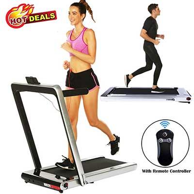 2 in 1 Under Desk Folding Treadmill