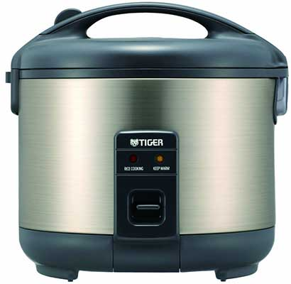 3. Tiger JNP-S1OU-HU 5.5 Cup Uncooked Rice Cooker & Warmer
