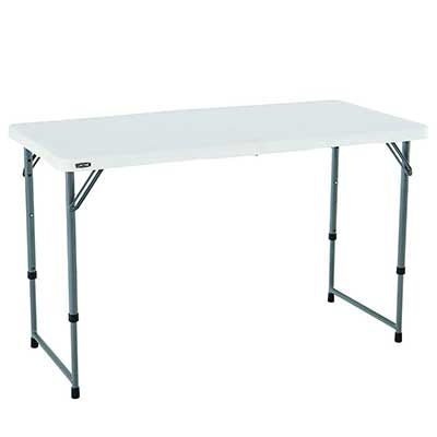 Lifetime 4428-Height Adjustable-Craft Camping and Folding Table
