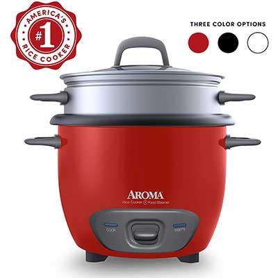 9. Aroma Housewares ARC-743-1NGR 6-Cup Rice Cooker