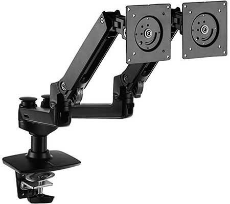10. AmazonBasics Premium Dual Monitor Stand