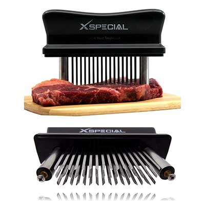 6. XSpecial Meat Tenderizer Tool 48- Blades Stainless Steel