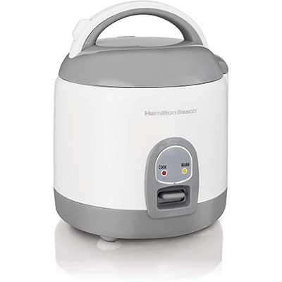1. Hamilton Beach Mini Rice Cooker & Food Steamer