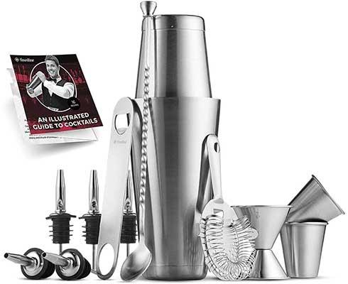 9. Premium Cocktail Shaker Bar Tools Set