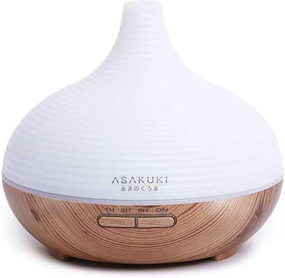 9. ASAKUKI 300ML Premium, Essential Oil Diffuser