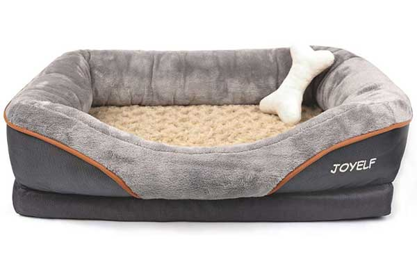 7. JOYELF Orthopedic Dog Bed Memory Foam Pet Bed
