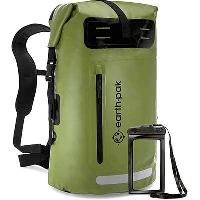 6. Earth Pak Waterproof Backpack