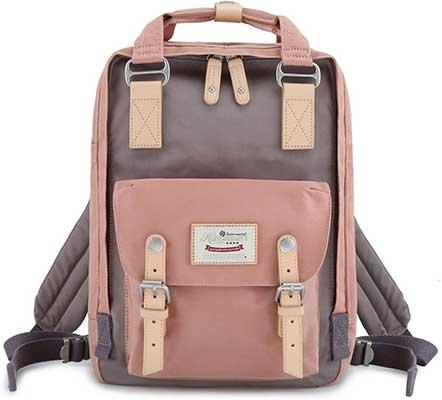 """8. Himawari School Waterproof-Backpack-14.9"""" College Vintage Travel Bag"""