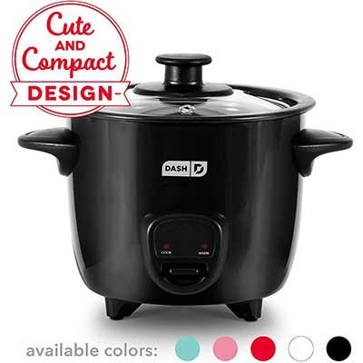 4. Dash DRCM200BK Mini Rice Cooker Steamer