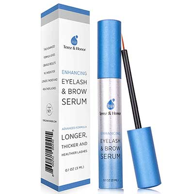 4. TEREZ & HONOR Natural Eyelash and Brow Enhancer Serum