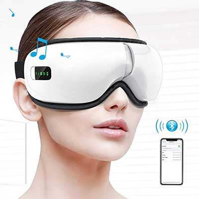 HOMIEE Eye Massager, Portable Electric Bluetooth Eye Machine