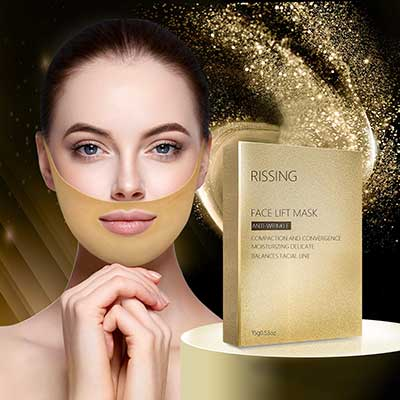 6. Gold Gel Collagen Face Lift Double Chin Up Patch V Up