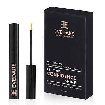 2. EVEDARE Advanced Natural Extract Eyelash Growth Serum