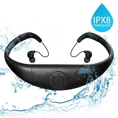 Tayogo Waterproof MP3 Player Swimming Headphones