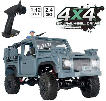 HIBRO RC Car Army Toy 1:12 Scale