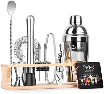 1. Eocolz Cocktail Shaker Bar Set Bartender Kit