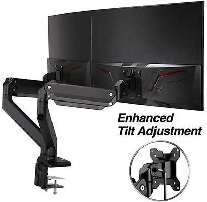 "AVLT-Power Dual 35"" Monitor Desk Stand"